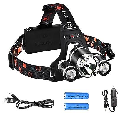 12000LM XM-L T6 LED Scheinwerfer Taschenlampe Kopflampe USB wiederaufladbar
