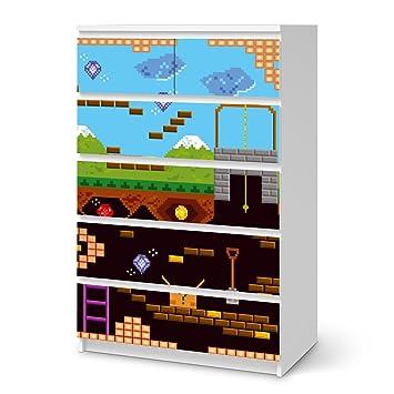 Klebefolie Sticker Tapete für IKEA Malm 6 Schubladen (hoch)   Möbel ...