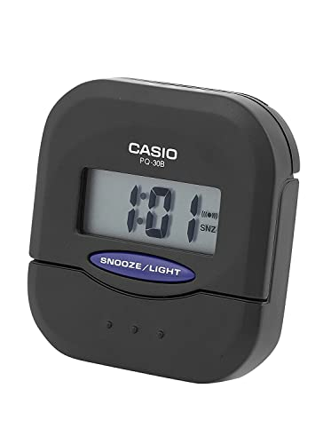 CASIO 10204 PQ-30B-1DF - Reloj Despertador Digital Negro: Amazon.es: Relojes