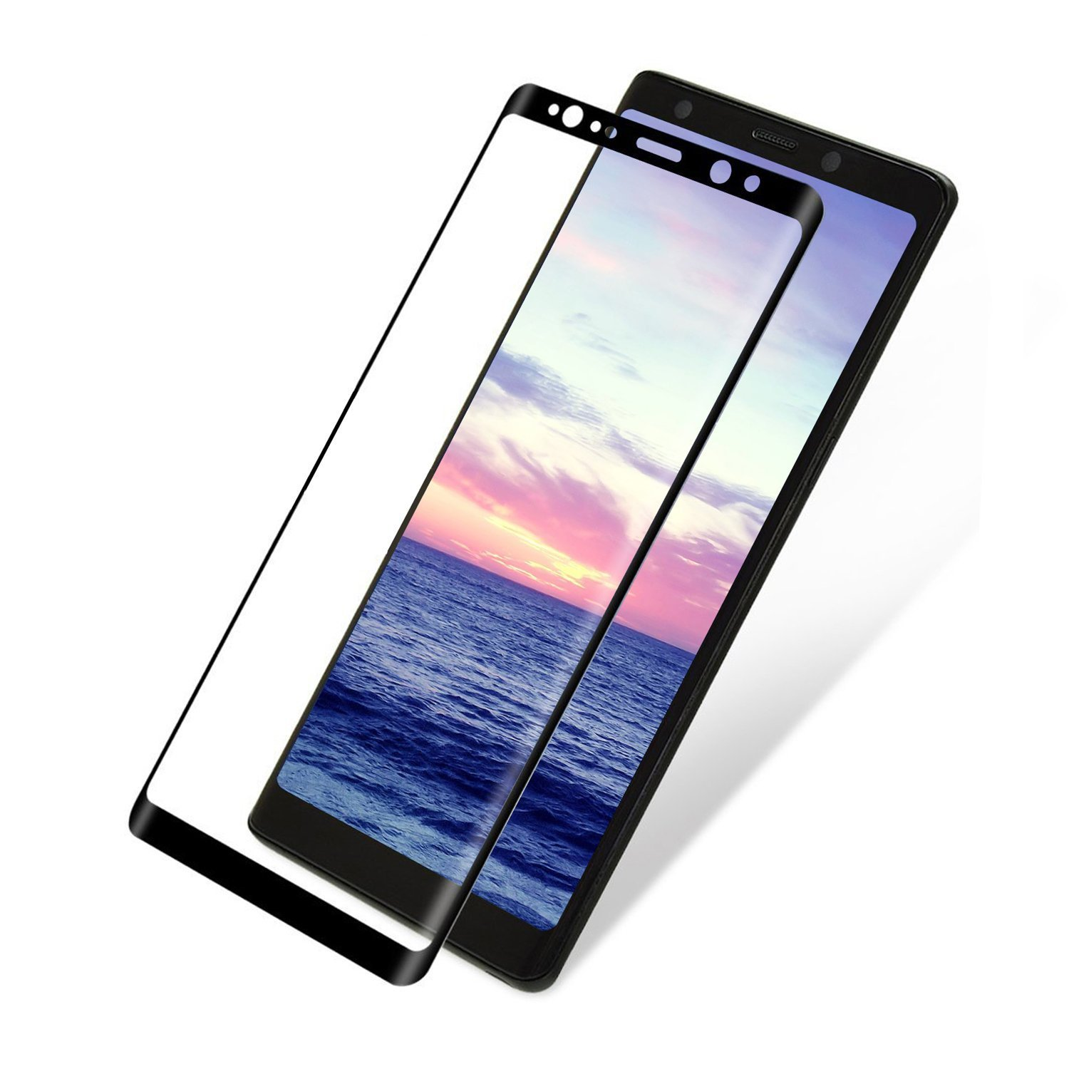 Amazon Galaxy NOTE 8 Screen Protector Galaxy NOTE 8 Screen Tempered Glass HD Clear Protective ARCTIC Tempered Glass 3D Arc Face 9H Hardness