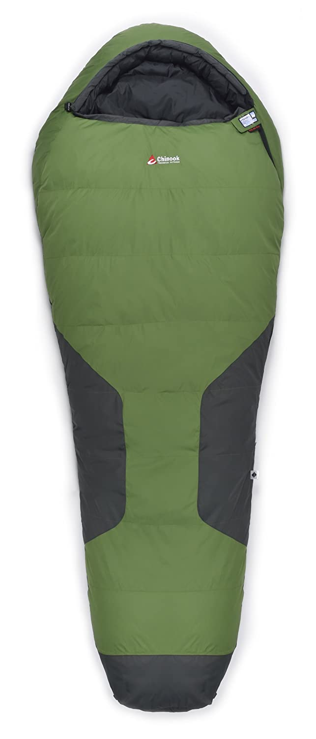 Chinook Polar Peak Mummy Down -5-Degree Sleeping Bag, Green by Chinook B00GD2OI6G