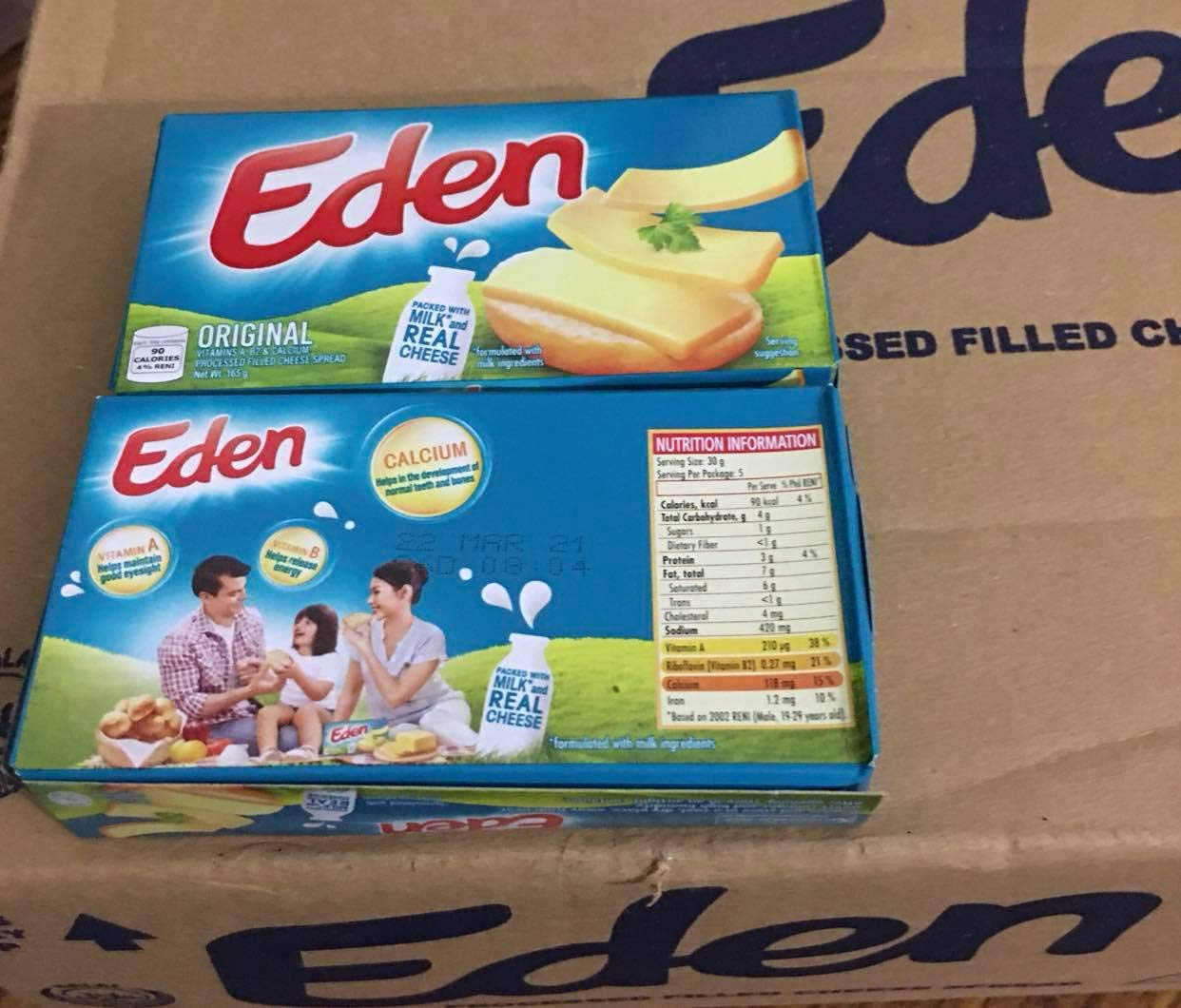 Eden Original Cheese (2 Pack, Total of 330g)