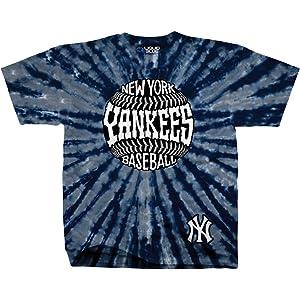 0f17def7c Liquid Blue Unisex Adult MLB Burst Tie-Dye T-Shirt - Short Sleeve -