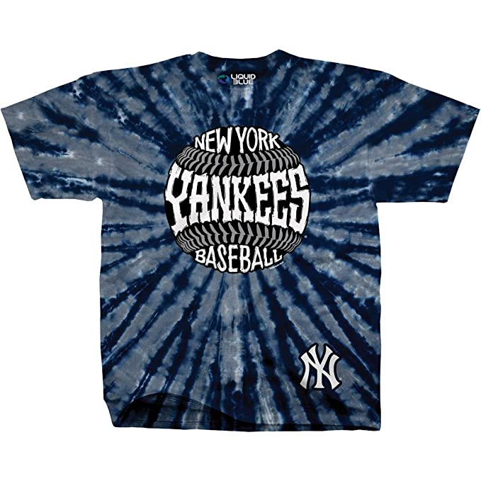 7e85ebcdb04 Image Unavailable. Image not available for. Color  Liquid Blue Unisex Adult  MLB Burst Tie-Dye T-Shirt ...