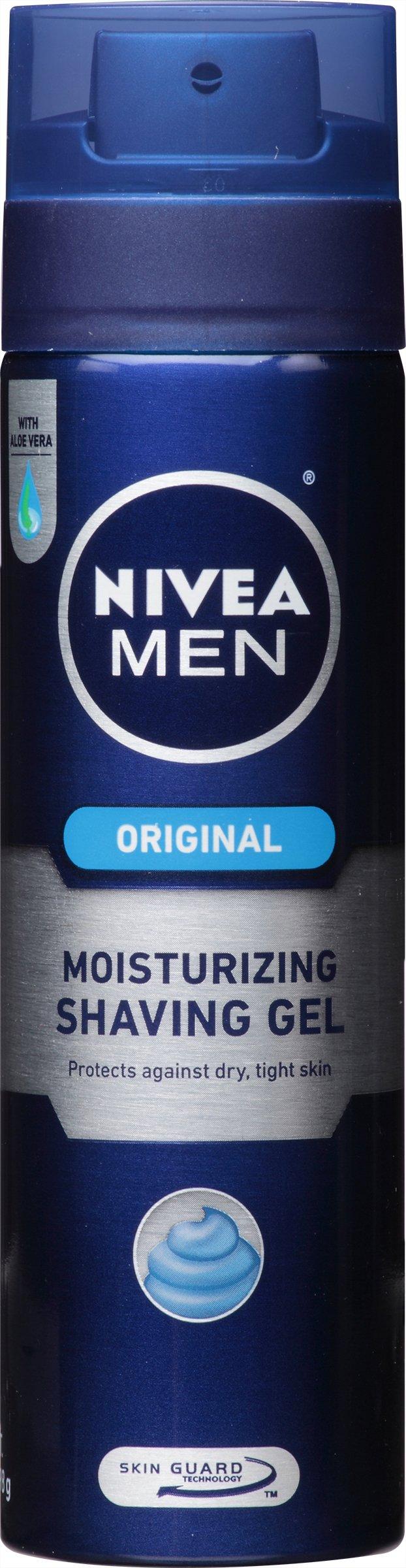 Nivea Men Moisturizing Shave Gel, 7-Ounce Canister (Pack of 12)