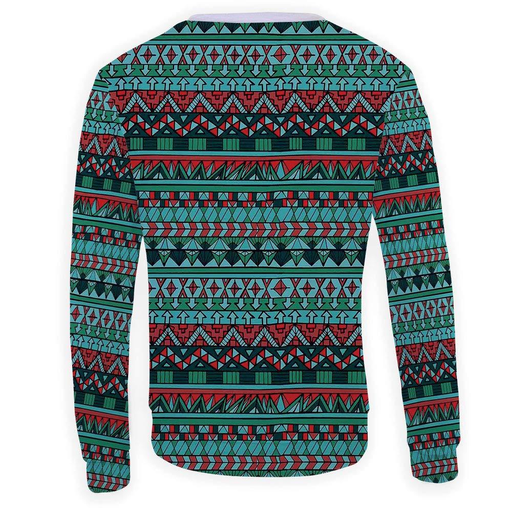 MOOCOM Mens Crewneck Tribal Sweatshirt