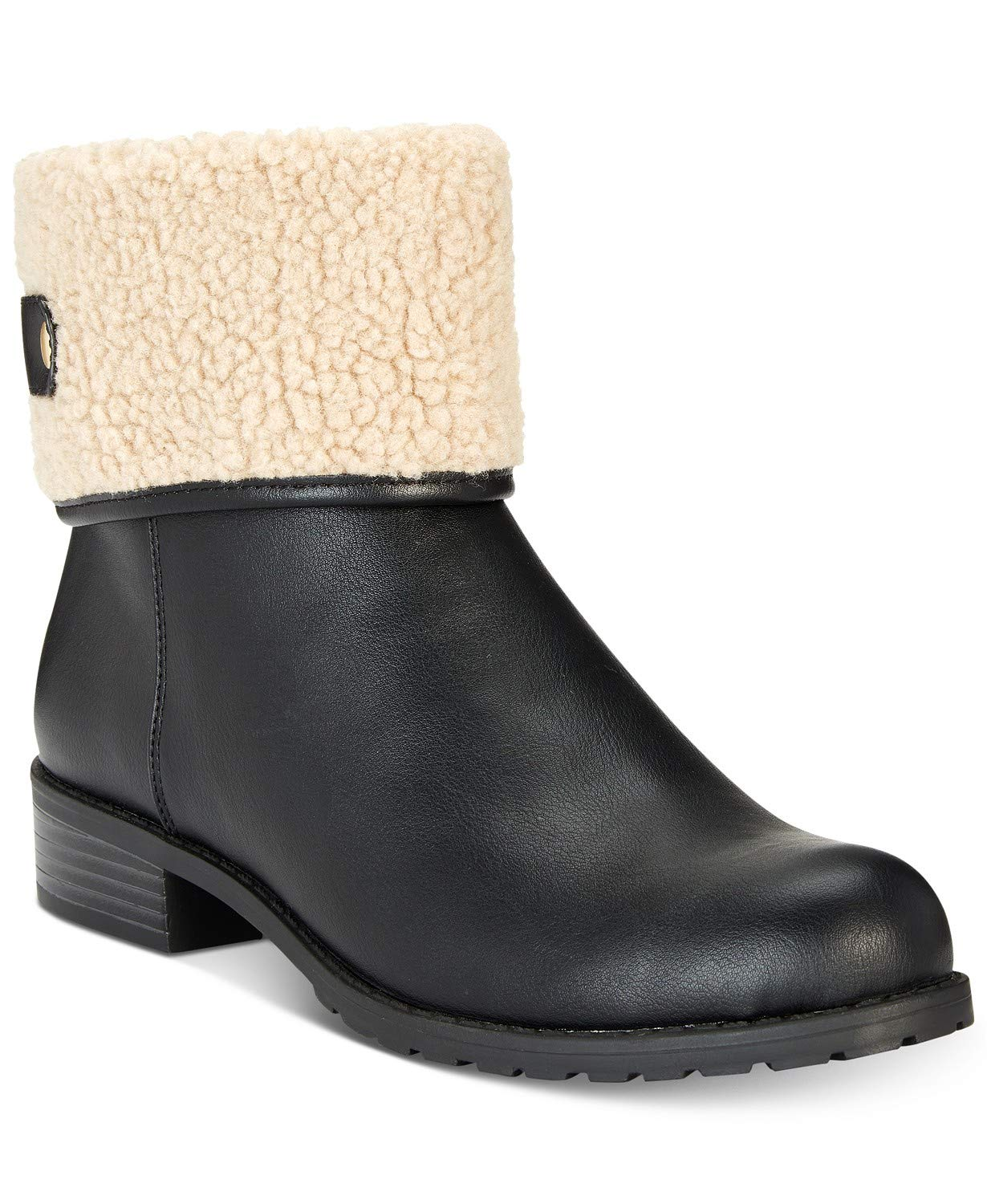Style & Co. Womens Beana Closed Toe Ankle Fashion, Black/Natural, Size 10.0