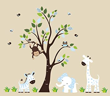 Amazoncom Nursery Wall Decals Baby Boy Nursery Decor Blue - Nursery wall decals baby boy