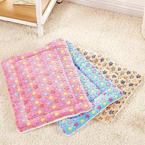 iodvfs Bella Estrellas impresión Franela Pet Ropa de Cama, cálido Soft Bed cojín Mat casa