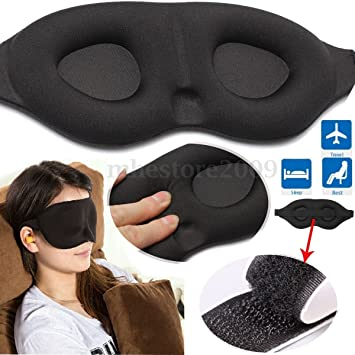 c3343ca47 Amazon.com   3D Memory Sponge Travel Sleep Eye Mask Padded Shade Cover  Sleeping Blindfold Aid   Beauty