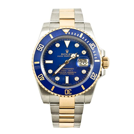 Rolex Submariner automatic-self-wind Mens Reloj 116613bld (Certificado) de segunda mano