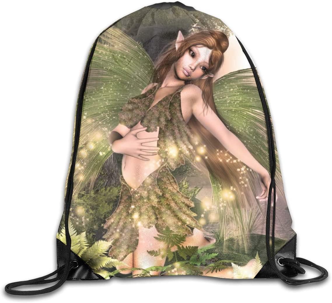 Tree Nymph Green Lure Drawstring Bag Stylish Cute Print Lightweight Sackpack Sport Gym Bundle Backpack Theme Novelty Outdoor Classic