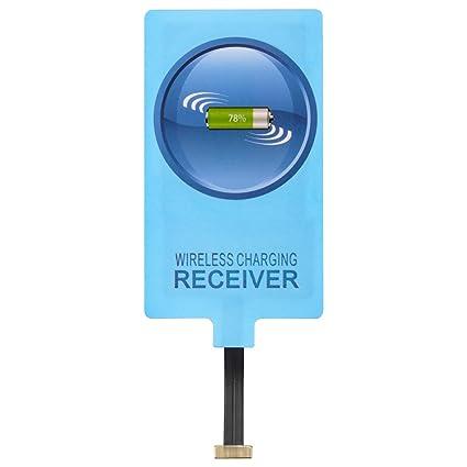 Qi receptor, qianyou universal micro USB shni ttstelle (muy fina Receptor Cargador inalámbrico Receptor de carga inductiva para iPhone, Samsung Galaxy ...