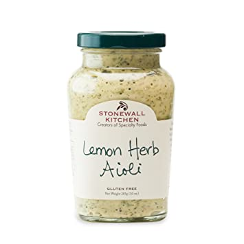 Amazoncom Stonewall Kitchen Aioli Lemon Herb 10 Ounce