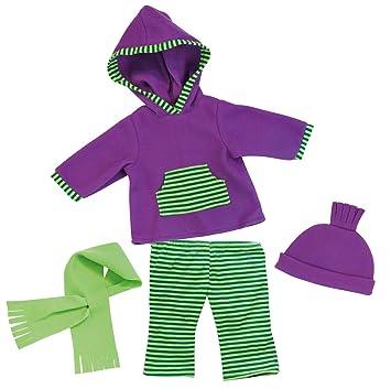 Strampler blau Bayer Design 83869 Kleidung für Puppen circa 33-38 cm Neu