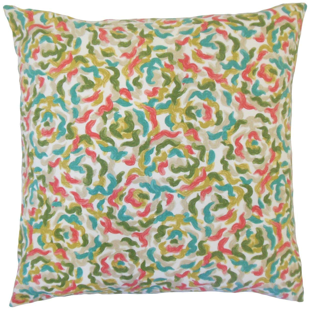 The Pillow Collection Junayd Graphic Coral Down Filled Throw Pillow