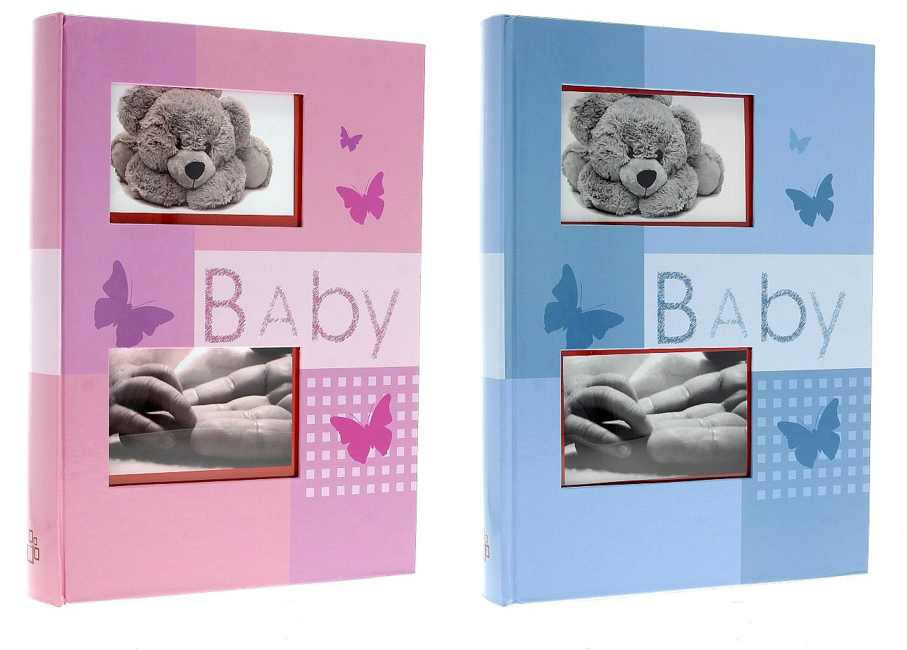 Baby Photo Album with Pockets for 300 Photos - 10 x 15 cm - Bravo Blue LCD