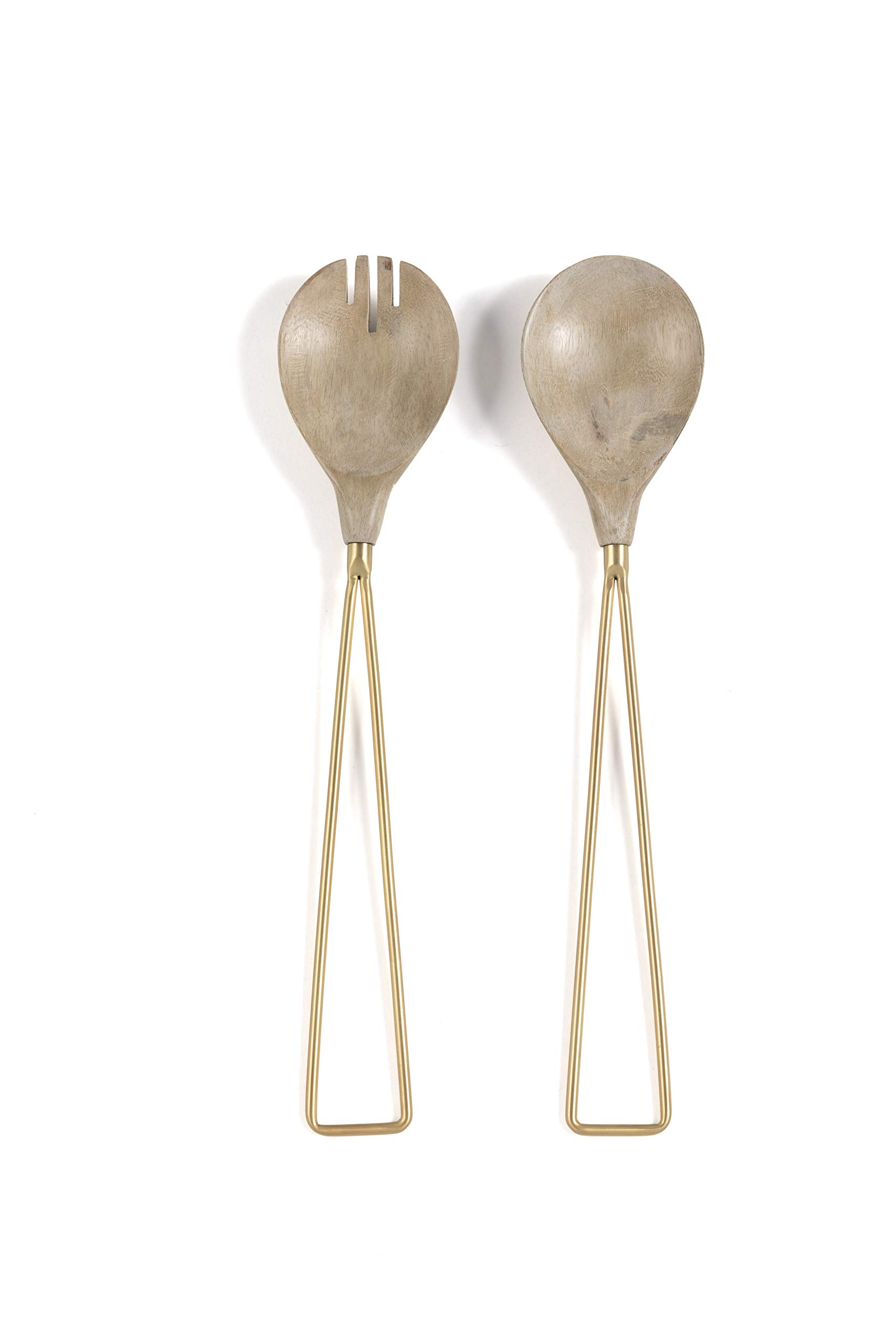 Shiraleah Home 11-AS-001GO Orion SALAD SERVERS One Size Gold