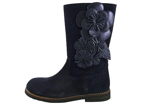 Clic! CL/8606 de Fille - Bottes avec fleurs - Bleu - Navy (Marin/Andromeda),:  Amazon.fr: Chaussures et Sacs
