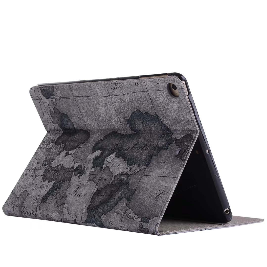 iPad Pro 10.5 Case Cover,Dream Wings Map Pattern Slim Book Style Stand with Card Slots Screen Protective for Apple New iPad Pro 10.5 inch 2017 Released Tablet (2017 iPad Pro 10.5, Grey)