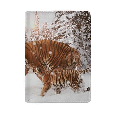 Winter Snow Sunlight Leather Passport Holder Cover Case for Travel Men and Women