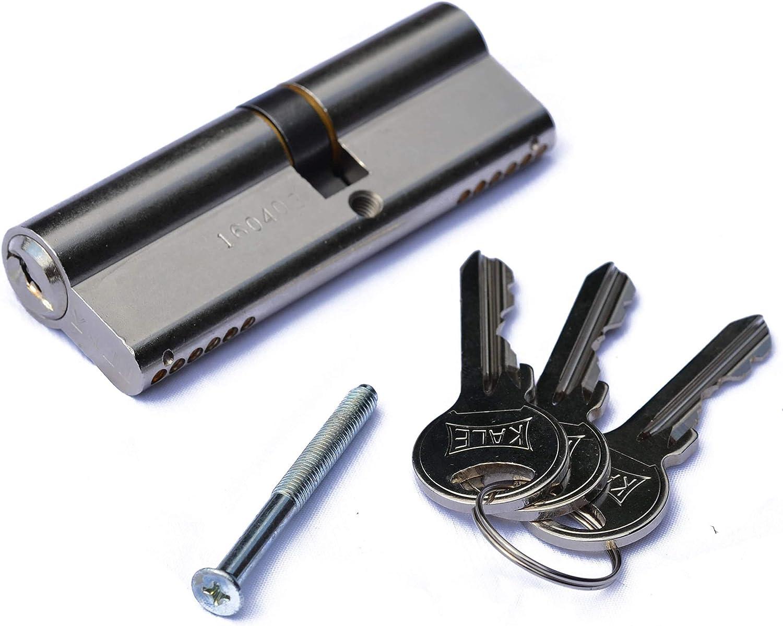 B Wei/ß, PVC, Glaseinsatz, Dr/ückergarnitur, 98 x200 cm, DIN Links, innen /öffnend Kunststoff Nebeneingangst/ürPAULA 60mm H