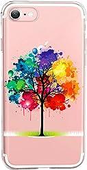 Girlscases® | iPhone 8/7 Hülle | Im Baum-des-Lebens Motiv Muster | in bunt | Fashion Case transparente Schutzhülle aus Silikon