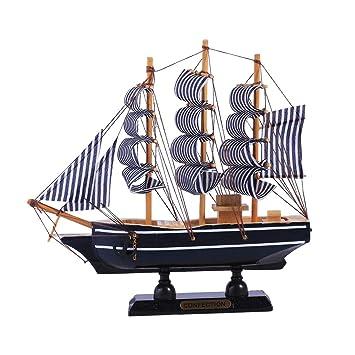 Vosarea Maqueta de Barcos de Madera Adorno de velero ...