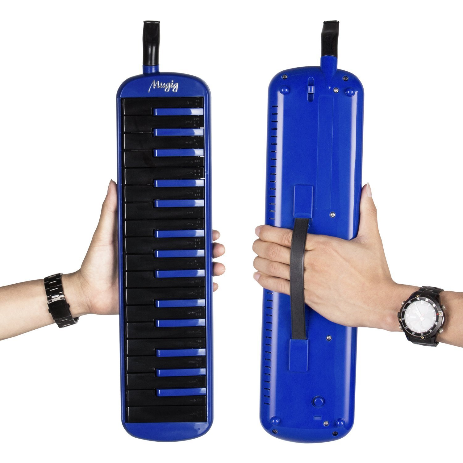 Melodica 32 Key Piano Style Melodica, for Teaching and Playing, with Carrying Case, Music Gift for Kids(Blue)