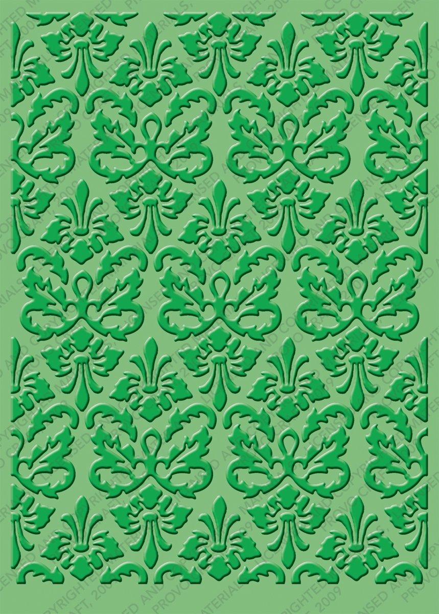 Cuttlebug 2000215 5-Inch-by-7-Inch Embossing Folder, Kassie's Brocade Kassie's Brocade