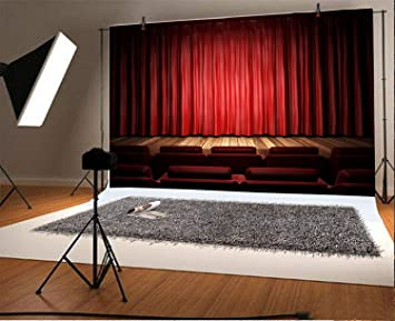 Wofawofa Vinyl 10X10FT Chinese Style Wedding Ceremony Backdrop Double Xi Characters in Red Lantern Curtain Backdrops Vintage Wood Floor Photography Background for Bride Banquet Photo Studio Prop KX736
