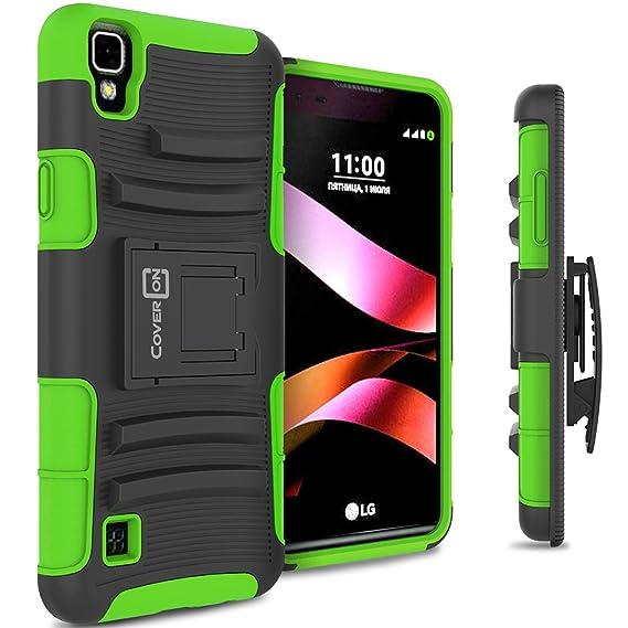 innovative design 89056 e8e63 LG Tribute HD Holster Case, LG X Style Holster Case CoverON [Explorer  Series] Holster Hybrid Armor Belt Clip Hard Phone Cover For LG Tribute HD /  X ...