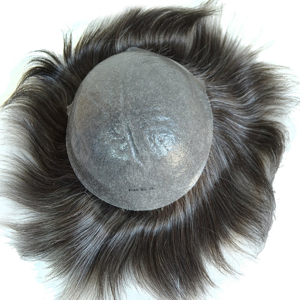All Pu Mens Hair Toupee Hairpiece Containing Hair Extensions Human
