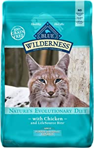 Blue Buffalo Wilderness High Protein Grain Free Natural Adult Indoor Hairball Control Dry Cat Food