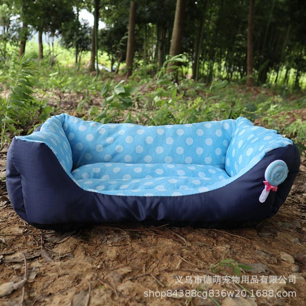 B 685516cm B 685516cm Desti Flakes Pet Bolster Dog Bed Comfort Pet Pit Lollipop pp Cotton Round Point Dog mat (color   B, Size   68  55  16cm)