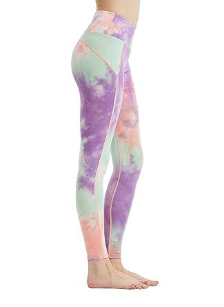 fbde252b8abcd Lanben High Waist Yoga Pants Tie Dye Jogging Dance Workout Gym Full-Length Yoga  Leggings