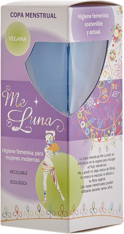 MeLuna Classic Copa Menstrual, Anillo, Azul, Talla L - 1 Unidad