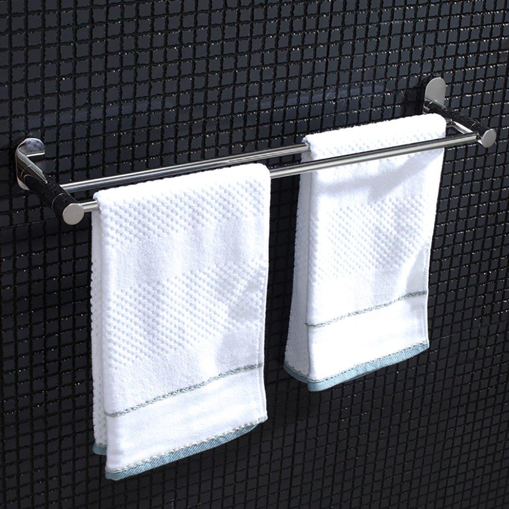 タオルバー/ダブルロッドステンレススチール厚いバスルームタオルバー壁掛けバスルームタオルラック、サイズ:60 * 12.5cm B07DHDDJBX