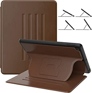 MoKo Case Fit 2018/2017 iPad 9.7 6th/5th Generation, Magnetic Stand Folio Case with Pencil Holder, Multiple Viewing Angles and Auto Wake/Sleep, Compatible with iPad 9.7 Inch 2018/2017 - Brown