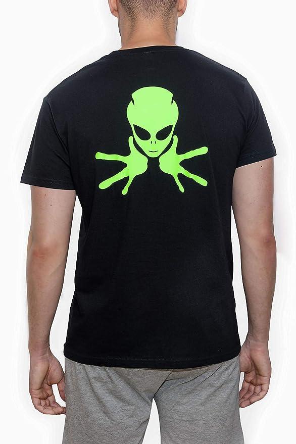 46a02aa280303 Línea Recta Camiseta Manga Corta Alien  Amazon.es  Ropa y accesorios