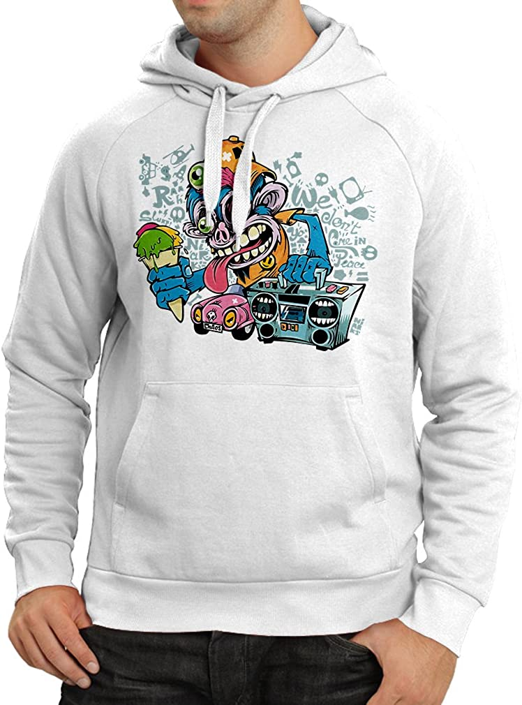 80s 1980s Retro Vintage Music Deck Cassette Player lepni.me Unisex Hoodie The Funky Monkey DJ