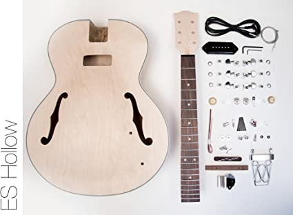 Thefretwire Diy Electric Guitar Kit Hollow Body Build Your Own Guitar Kit Es Amazon Co Uk Musical Instruments