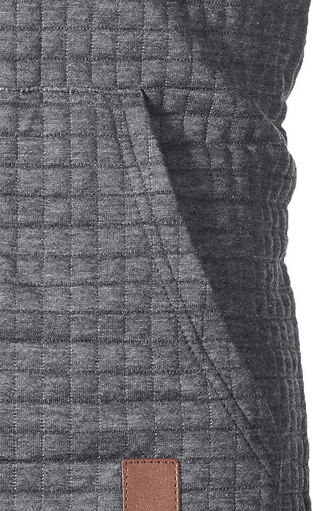 GREFER Mens Hooded Sweatshirt Autumn Long Sleeve Plaid Hoodie Top Tee Outwear