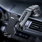 IPOW Car Phone Mount Holder Hands Free Car Phone Holder Dashboard Gravity Cell Phone Holder Mount with Auto Retractable…