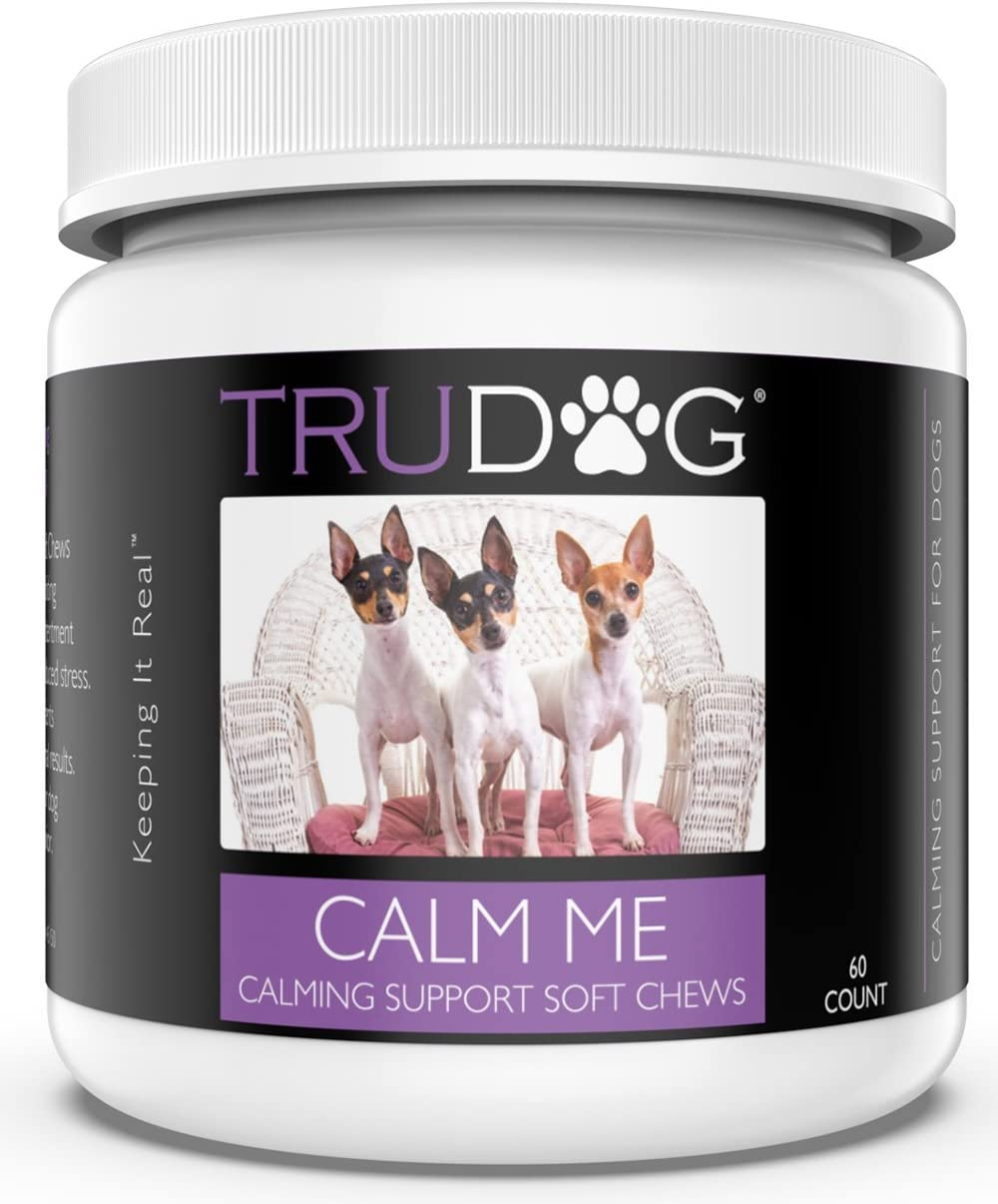 Trudog: Calm Me - Calming Support Soft Chews (60 Count) - Natural Stress Relief for Dogs