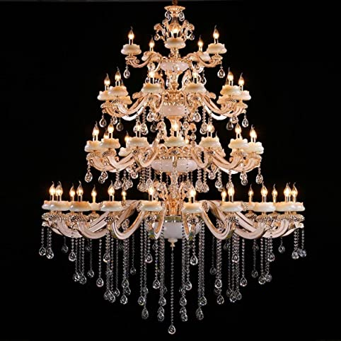 Poersi large foyer chandelier lighting crystal pendant lighting modern chandelier for living room