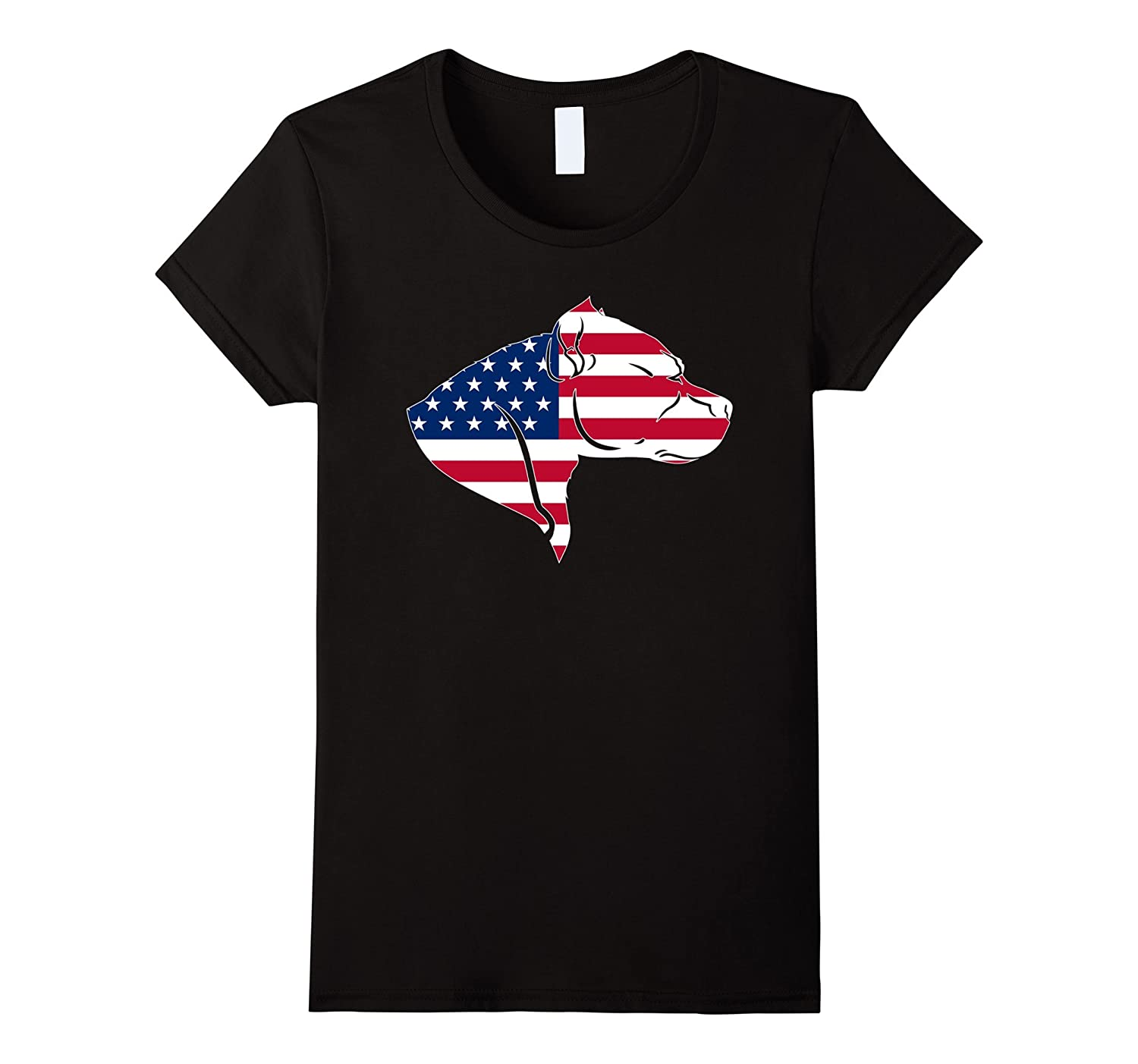 Pitbull American Flag T Shirt 4th of July Independence Gift-Loveshirt