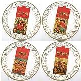 Naturhand 南禾 新年猪年创意红包 复古个性红包 香港利是封加厚牛皮纸千元红包 一包10个装 4款组合装