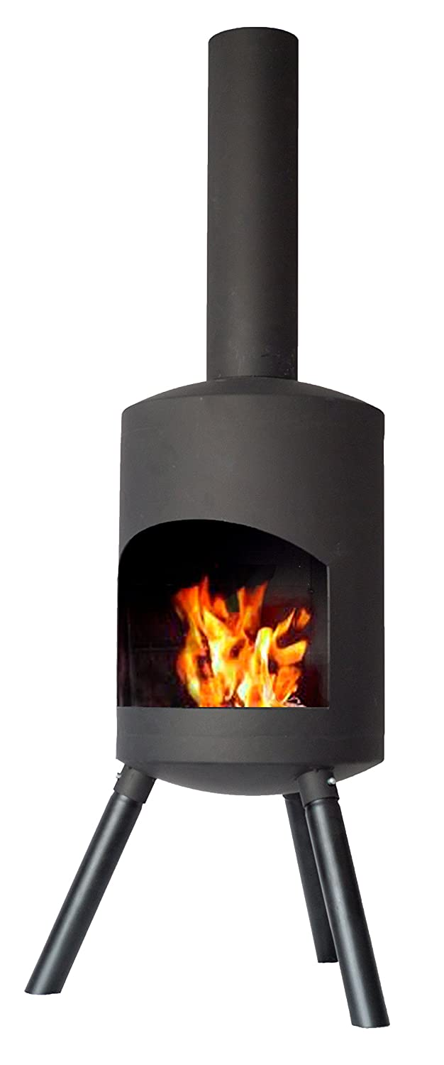 Chiminea Authentic Small - 115cm x 30cm - Black 2L Home and Garden