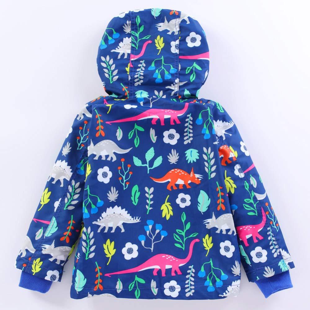 LENAZI Girl Baby Kid Cartoon Floral Outwear Raincoat Pants Set Hoodies Waterproof Hooded Coat Jacket